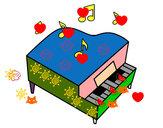 Dibujo Piano de cola pintado por Melissa20