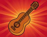 Dibujo Guitarra clásica pintado por Samiis
