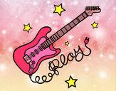 Dibujo Guitarra y estrellas pintado por 4698-8248