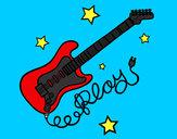 Dibujo Guitarra y estrellas pintado por Carlalml