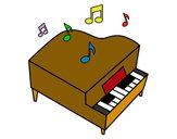 Dibujo Piano de cola pintado por tonyyy