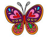 Dibujo Mandala mariposa pintado por Bia2000