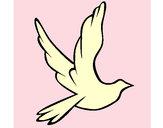 Dibujo Paloma de la paz al vuelo pintado por Eddarosa