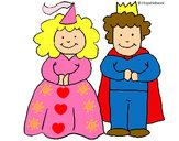 Dibujo Princesa y rey pintado por milagroslt