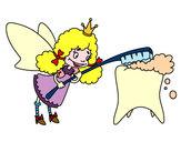 Dibujo Hada de los dientes pintado por anamariale