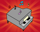 Dibujo Piano de cola pintado por Jesseyjoy1