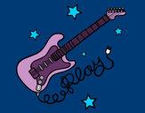 Dibujo Guitarra y estrellas pintado por EmiAlonsi