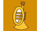 Dibujo Trompeta pintado por humb