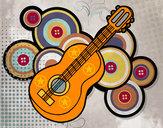 Dibujo Guitarra clásica pintado por argenis031