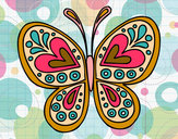 Dibujo Mandala mariposa pintado por yoyi0708