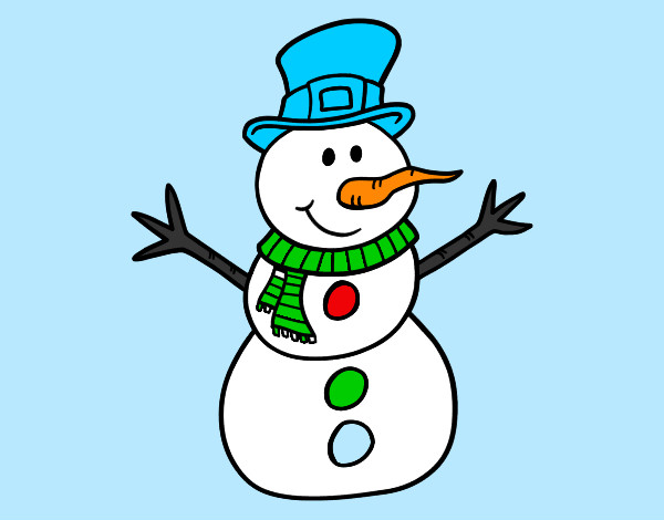 Muñeco De Nieve Dibujo: Dibujos De Muñecos De Nieve Para Colorear