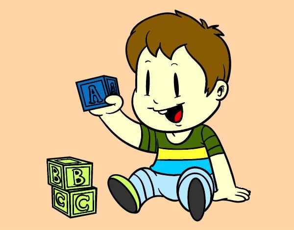 Dibujos de Niños jugando para Colorear - Dibujos.net