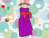 Dibujo Vestido de fiesta pintado por maitena