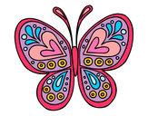 Dibujo Mandala mariposa pintado por annsita