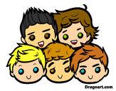 Dibujo One Direction 2 pintado por Ingrid1D