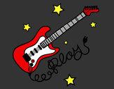 Dibujo Guitarra y estrellas pintado por CSG10