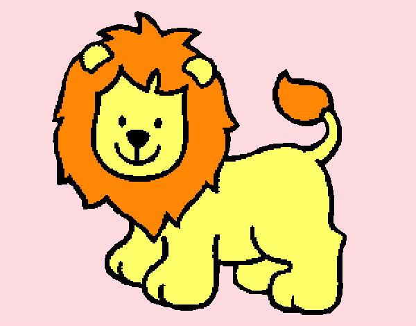 Dibujos de Leones para Colorear - Dibujos.net