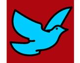 Dibujo Paloma de la paz pintado por juas