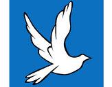 Dibujo Paloma de la paz al vuelo pintado por Ricardo18