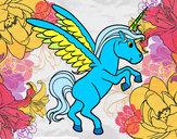 Dibujo Unicornio joven pintado por david20125