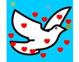 Dibujo Paloma de la paz pintado por nairita