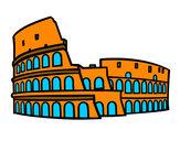 Dibujo Coliseo romano pintado por lamuerte