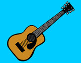 Dibujo Guitarra española II pintado por tucan007