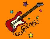 Dibujo Guitarra y estrellas pintado por Borja11