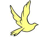 Dibujo Paloma de la paz al vuelo pintado por Yomi