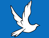 Dibujo Paloma de la paz al vuelo pintado por SuperArte1