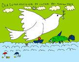 Dibujo Día Internacional de la Paz pintado por margarita2
