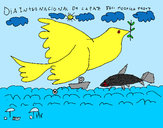 Dibujo Día Internacional de la Paz pintado por Peeter
