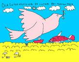 Dibujo Día Internacional de la Paz pintado por agusce