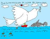 Dibujo Día Internacional de la Paz pintado por ARIESDA