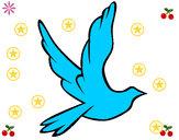 Dibujo Paloma de la paz al vuelo pintado por ARIESDA