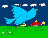 Dibujo Día Internacional de la Paz pintado por DUKI