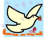 Dibujo Paloma de la paz pintado por almita26