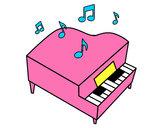 Dibujo Piano de cola pintado por Fatima67