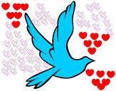 Dibujo Paloma de la paz al vuelo pintado por juyso