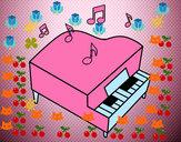 Dibujo Piano de cola pintado por ADSS