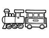 Dibujo Tren alegre pintado por charlycar