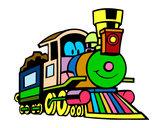 Dibujo Tren divertido pintado por mariayc