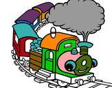 Dibujo Tren sonriente pintado por jonan