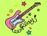 Dibujo Guitarra y estrellas pintado por Mgb28