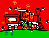 Dibujo Tren con vagón pintado por danielgaby