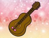 Dibujo Guitarra clásica pintado por panmi