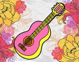 Dibujo Guitarra clásica pintado por stefani