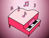 Dibujo Piano de cola pintado por pilis_guer