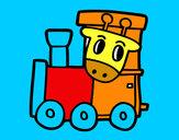 Dibujo Tren con jirafa pintado por ARIANA7
