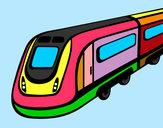 Dibujo Tren de alta velocidad pintado por ismail10